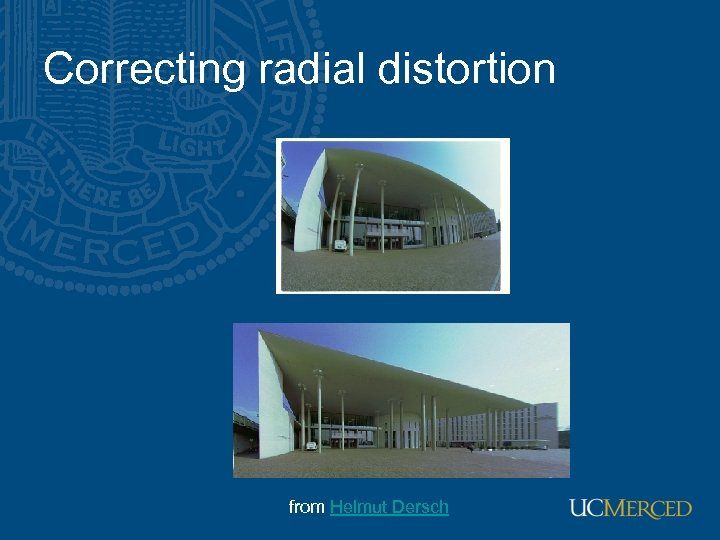 Correcting radial distortion from Helmut Dersch