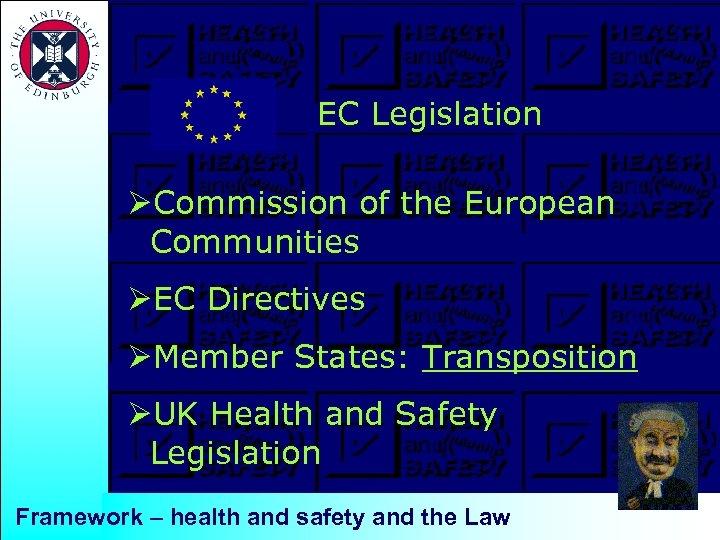 EC Legislation ØCommission of the European Communities ØEC Directives ØMember States: Transposition ØUK Health