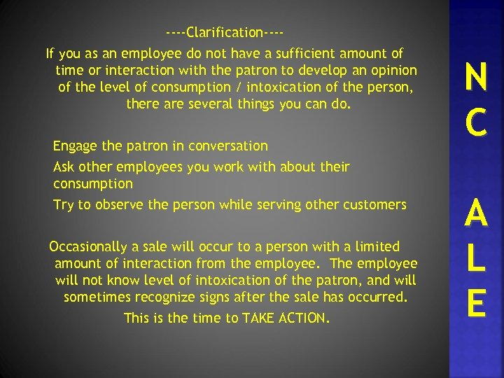----Clarification---If you as an employee do not have a sufficient amount of time or