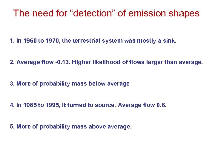 """The need for """"detection"""" of emission shapes 1. In 1960 to 1970, the terrestrial"""