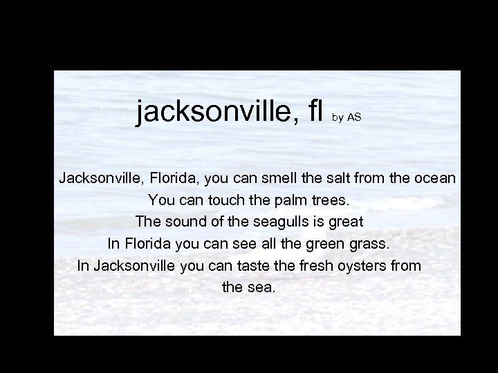 jacksonville, fl by AS In Jacksonville, Florida, you can smell the salt from the