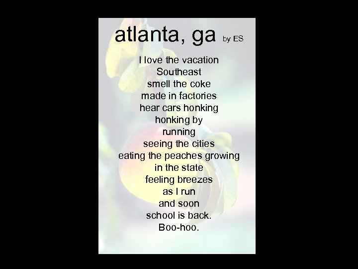 atlanta, ga by ES I love the vacation Southeast smell the coke made in