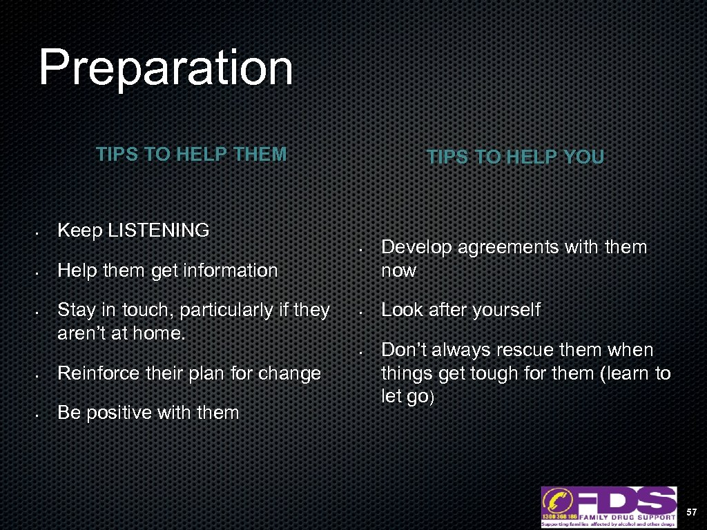 Preparation TIPS TO HELP THEM • TIPS TO HELP YOU Keep LISTENING • •