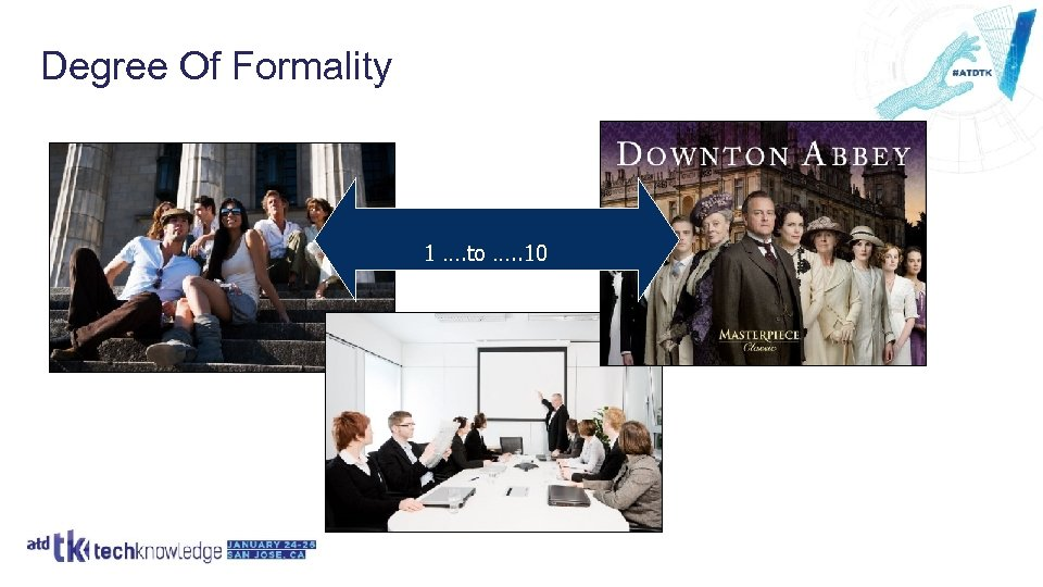Degree Of Formality 1 …. to …. . 10
