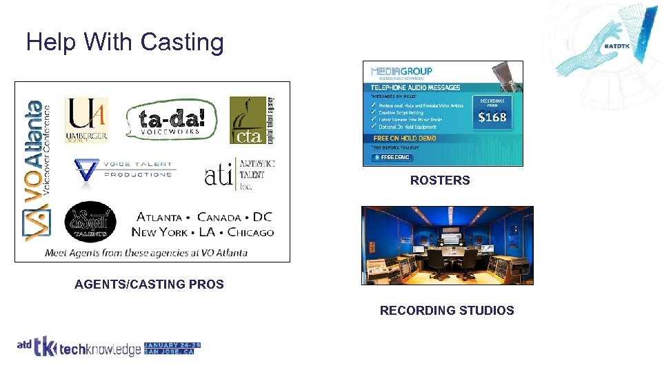 Help With Casting ROSTERS AGENTS/CASTING PROS RECORDING STUDIOS