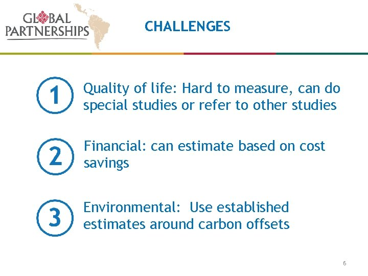CHALLENGES Quality of life: Hard to measure, can do special studies or refer to
