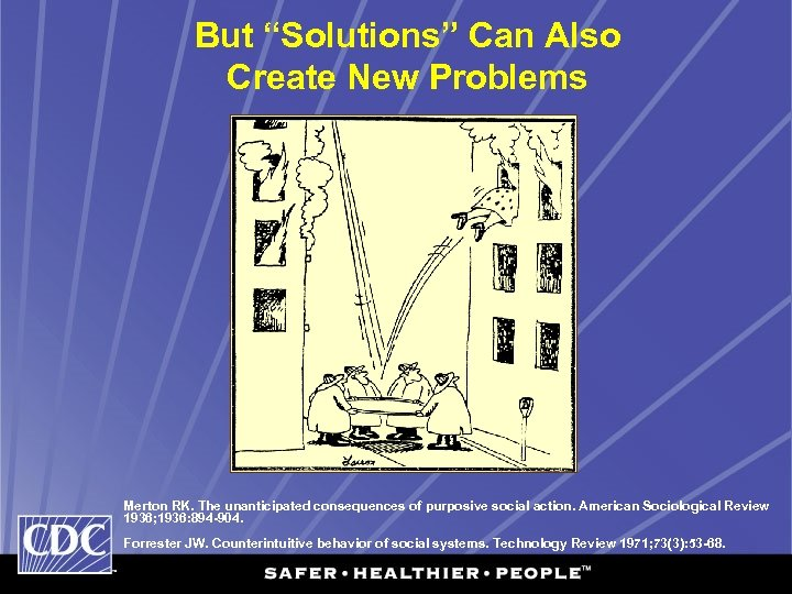 """But """"Solutions"""" Can Also Create New Problems Merton RK. The unanticipated consequences of purposive"""