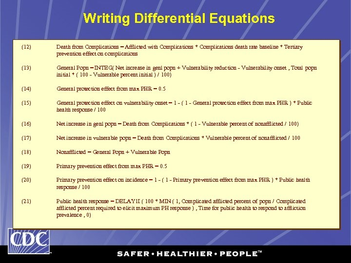 Writing Differential Equations (12) (13) (14) (15) (16) (17) (18) (19) (20) (21) Death