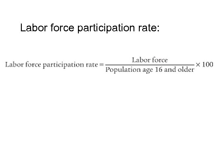 Labor force participation rate: