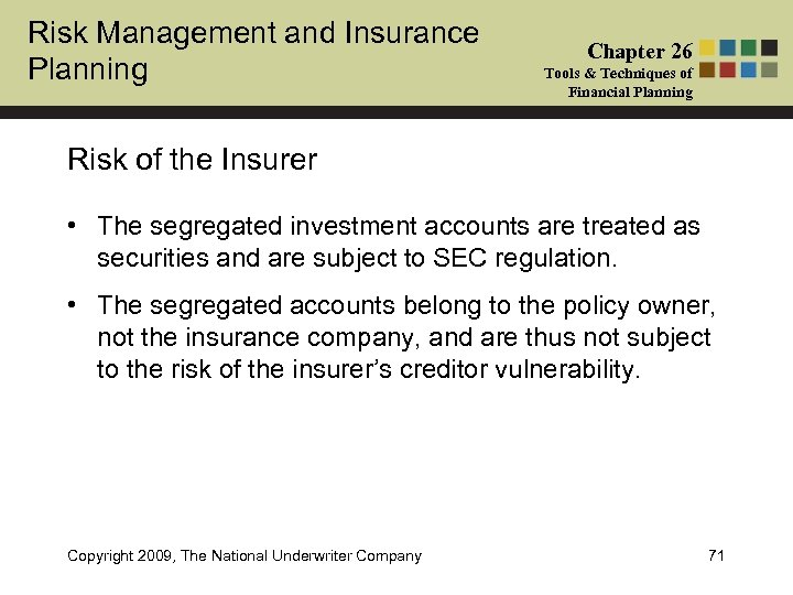 Risk Management and Insurance Planning Chapter 26 Tools & Techniques of Financial Planning Risk