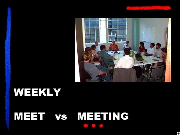 WEEKLY MEET vs MEETING