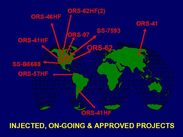 ORS-46 HF ORS-62 HF(2) ORS-41 HF ORS-97 SS-7593 ORS-62 SS-B 6688 ORS-57 HF ORS-41
