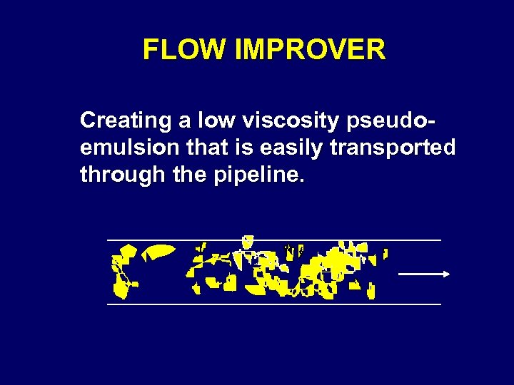 FLOW IMPROVER Creating a low viscosity pseudoemulsion that is easily transported through the pipeline.