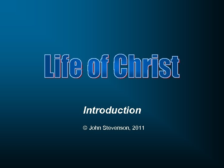 Introduction © John Stevenson, 2011