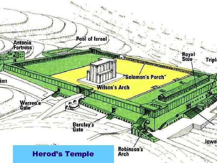 Zerubbabel's Temple Seleucid Addition Hasmonean. Temple Herod's Expansion