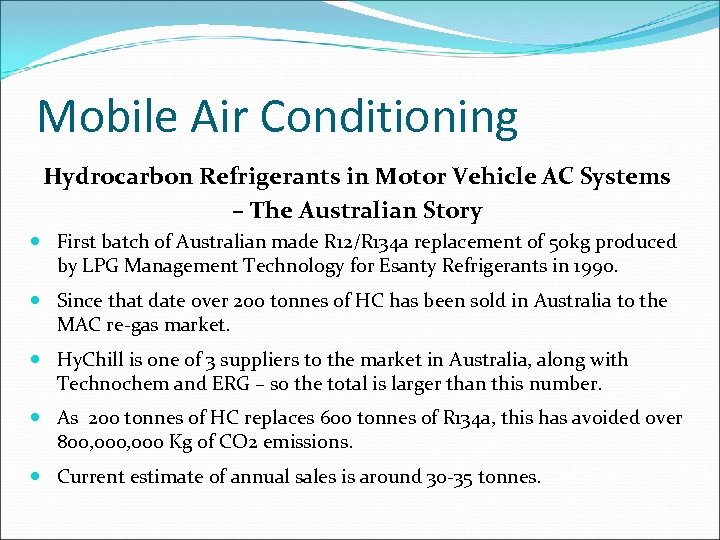Mobile Air Conditioning Hydrocarbon Refrigerants in Motor Vehicle AC Systems – The Australian Story