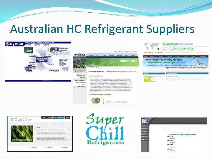 Australian HC Refrigerant Suppliers