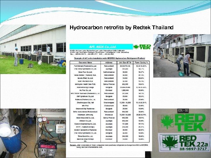 Hydrocarbon retrofits by Redtek Thailand