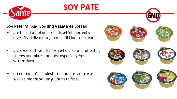 SOY PATE Soy Pate, Minced Soy and Vegetable Spread: ü are based on plant