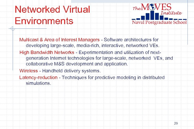 Networked Virtual Environments Multicast & Area of Interest Managers - Software architectures for developing