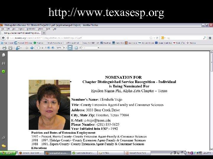 http: //www. texasesp. org
