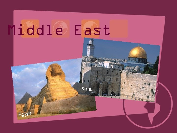 Middle East Israel Egypt