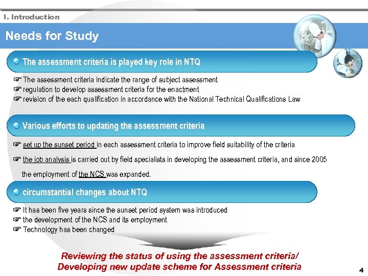 I. Introduction Needs for Study The assessment criteria is played key role in NTQ