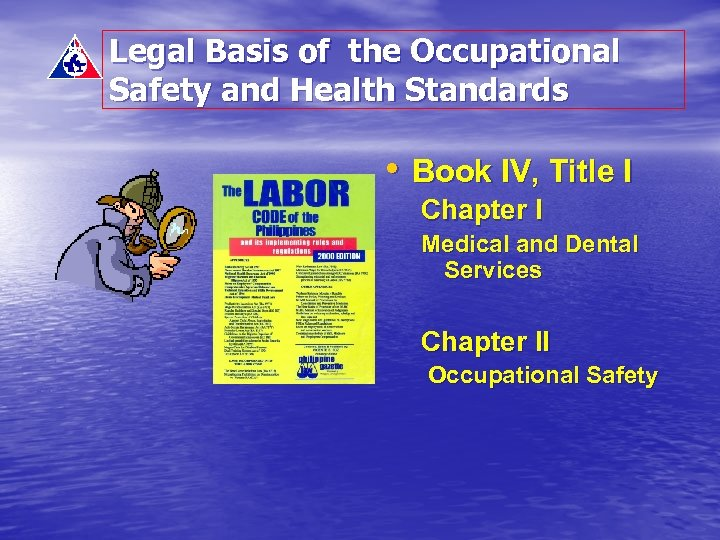 Legal Basis of the Occupational Safety and Health Standards • Book IV, Title I