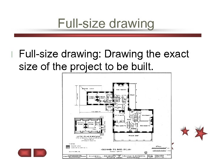 Full-size drawing l Full-size drawing: Drawing the exact size of the project to be
