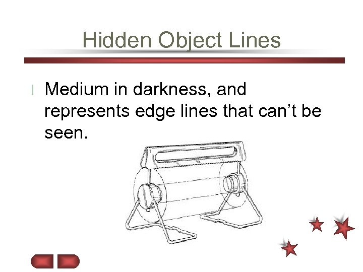 Hidden Object Lines l Medium in darkness, and represents edge lines that can't be