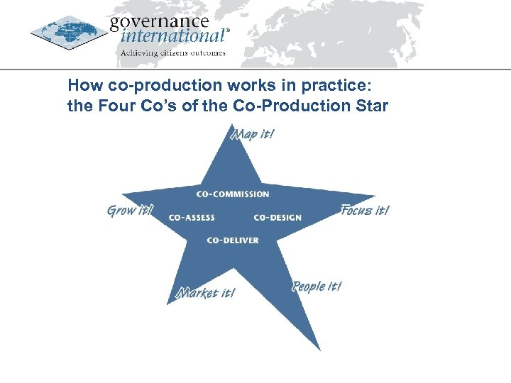 How co-production works in practice: the Four Co's of the Co-Production Star