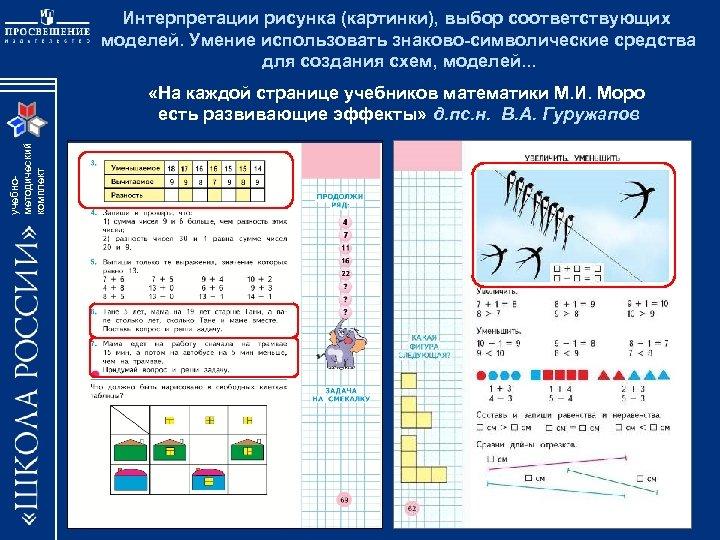 Интерпретации рисунка (картинки), выбор соответствующих моделей. Умение использовать знаково-символические средства для создания схем, моделей.