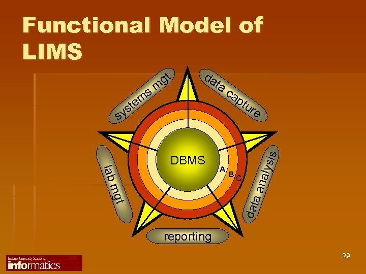 Functional Model of LIMS DBMS ta ca ptu re lab B C mgt data
