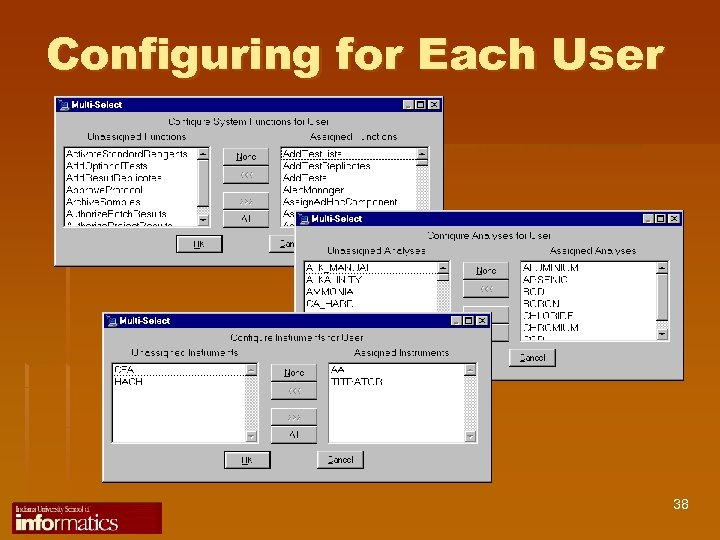 Configuring for Each User 38