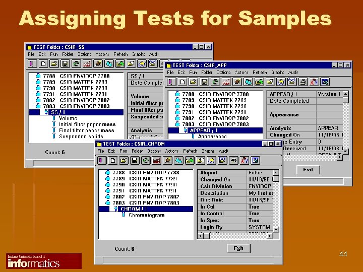 Assigning Tests for Samples 44