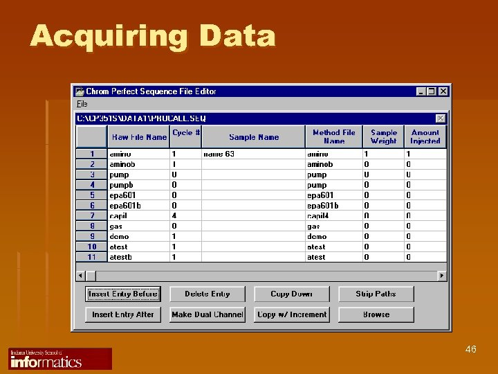 Acquiring Data 46