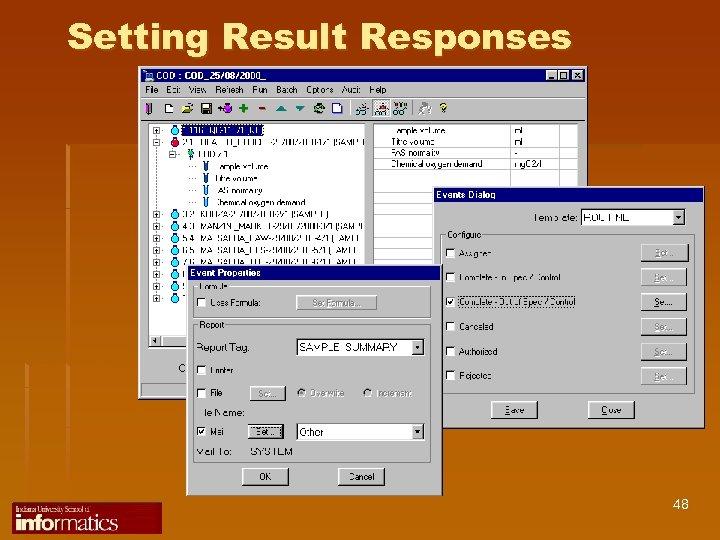 Setting Result Responses 48