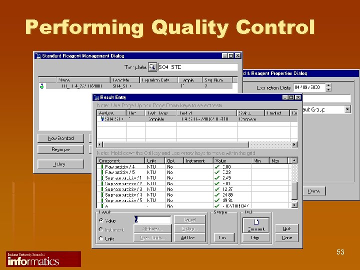 Performing Quality Control 53