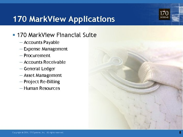 170 Mark. View Applications § 170 Mark. View Financial Suite — Accounts Payable —