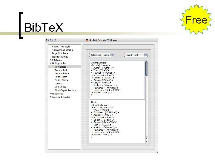Bib. Te. X Free