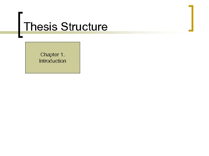 Thesis Structure Chapter 1. Introduction