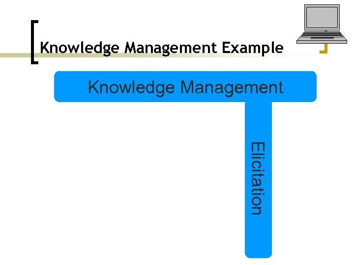 Knowledge Management Example Knowledge Management Elicitation