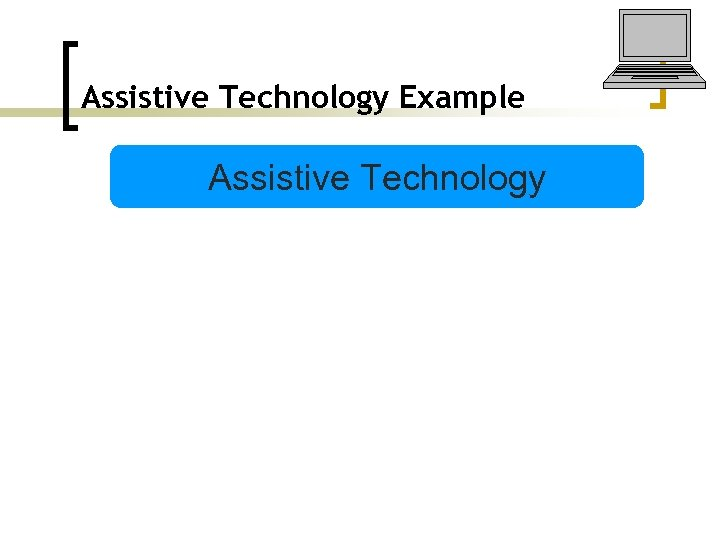 Assistive Technology Example Assistive Technology