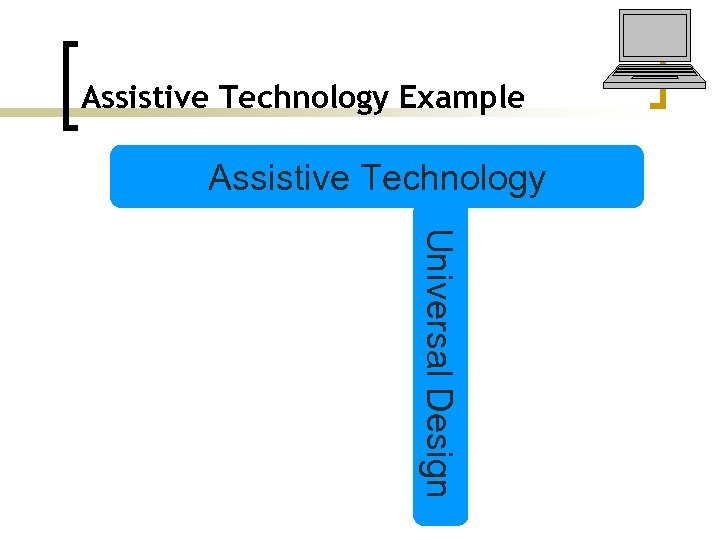 Assistive Technology Example Assistive Technology Universal Design