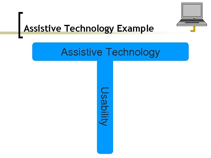 Assistive Technology Example Assistive Technology Usability