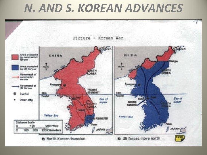 N. AND S. KOREAN ADVANCES