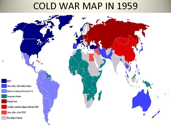 COLD WAR MAP IN 1959
