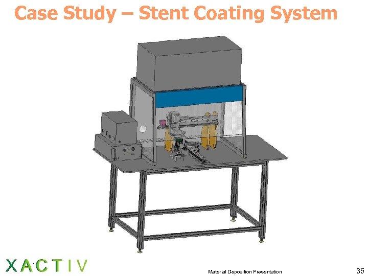 Case Study – Stent Coating System Material Deposition Presentation 35