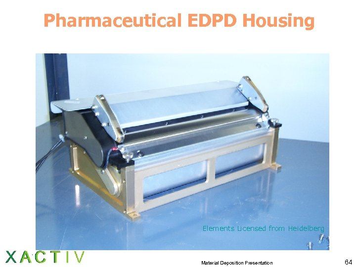 Pharmaceutical EDPD Housing Elements Licensed from Heidelberg Material Deposition Presentation 64