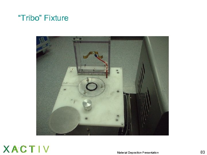 """Tribo"" Fixture Material Deposition Presentation 83"